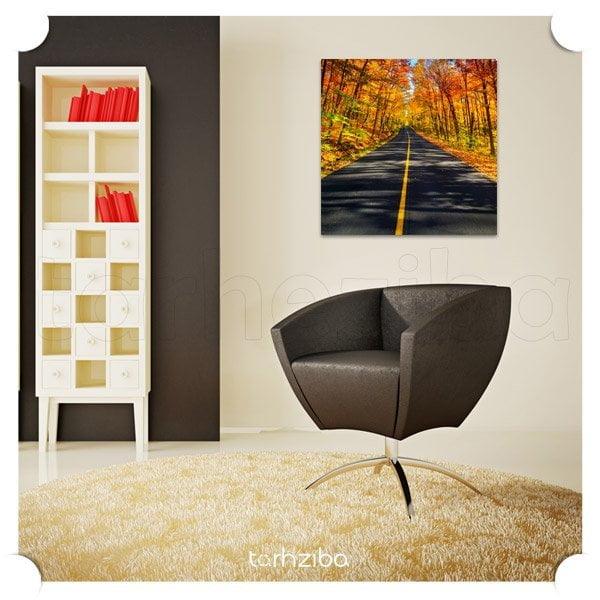 تابلو عکس جاده پاییزی