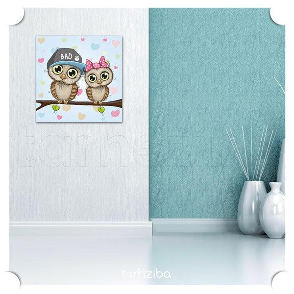 تابلو عکس زوج با مزه