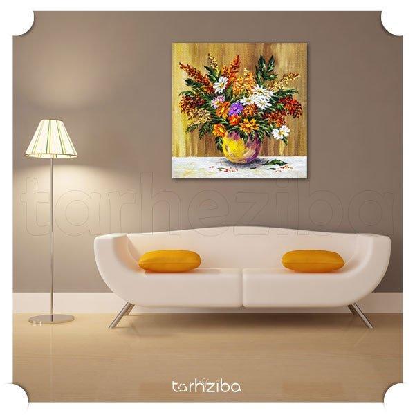 تابلو عکس نقاشی گلها