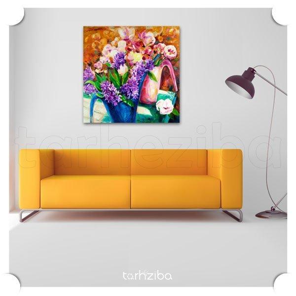 تابلو عکس تزیینی گل های زیبا