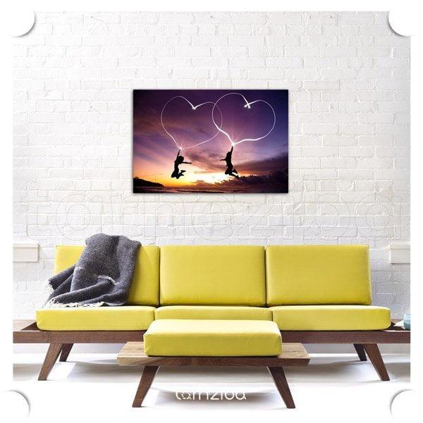 تابلو دکوری نورپردازی رمانتیک