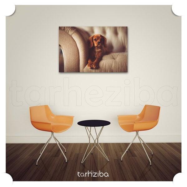 تابلو دیواری سگ لاکچری