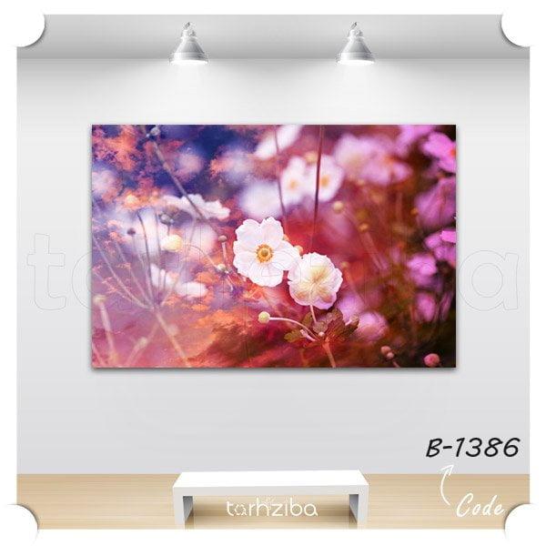 تابلو دکوراتیو دلبری گل سفید
