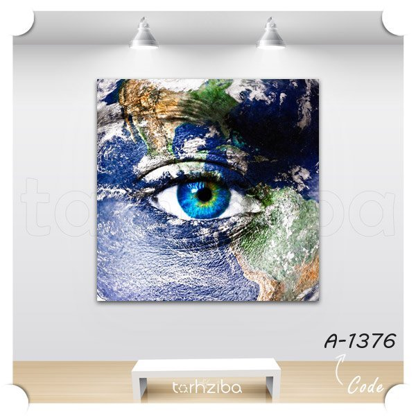 تابلو دیواری چشم زیبا