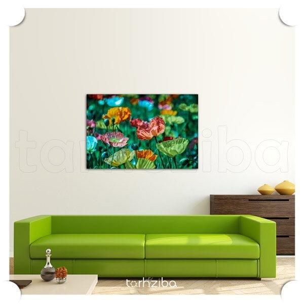 تابلو دیواری باغ گلها