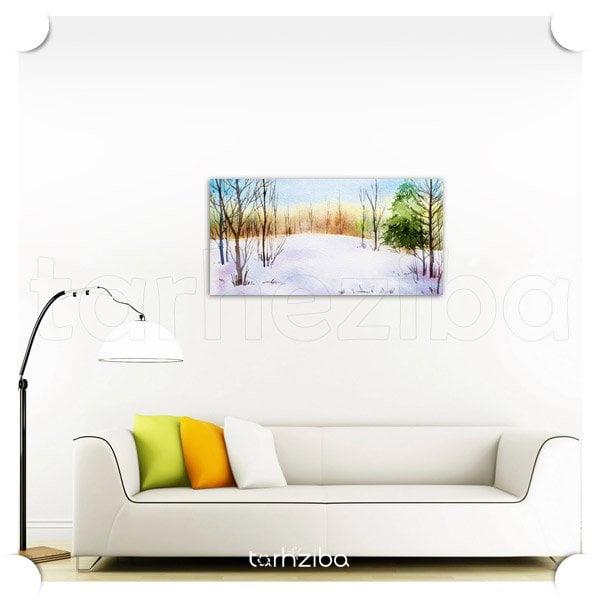تابلو تزیینی جنگل برفی