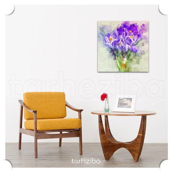 تابلو عکس گل نمای بنفش