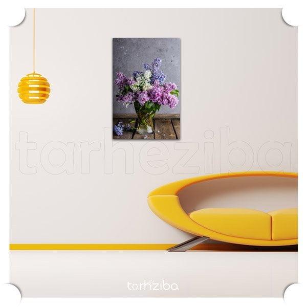 تابلو دکوری گلدان یاس