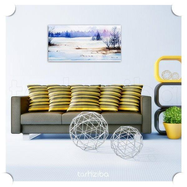 تابلو دیواری دشت برفی