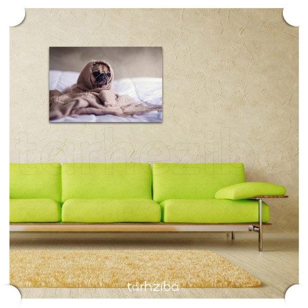 تابلو تزیینی سگ لرزه