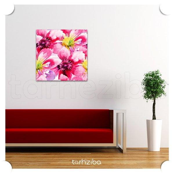 تزیین دیوار منزل با تابلو گل پوش زیبا