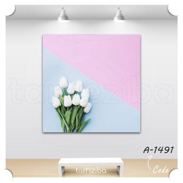 تابلو دیواری گل های زیبا