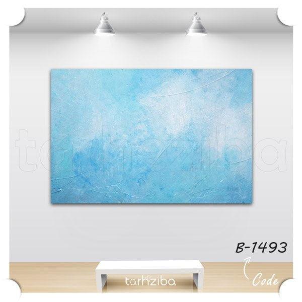 تابلو تزیینی ابستره آبی رنگ