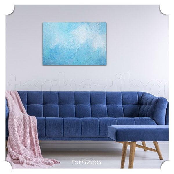 تابلو دکوراتیو ابستره آبی رنگ