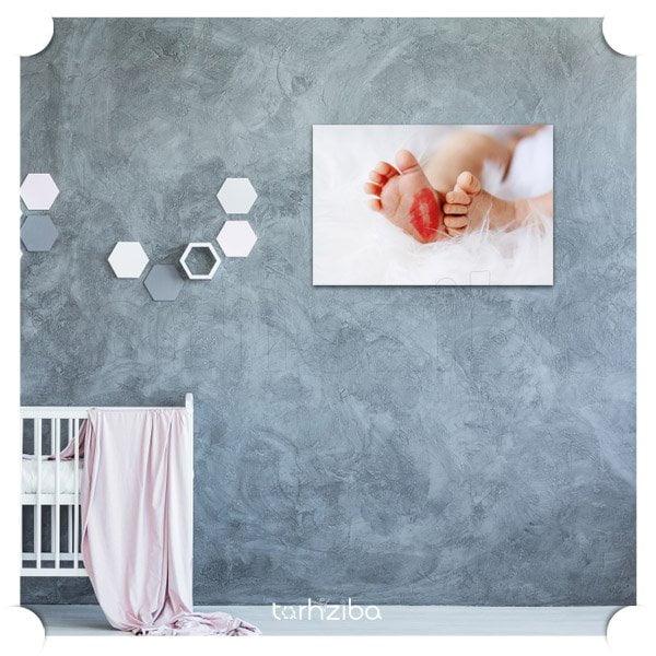 تابلو عکس مفهومی مادر و نوزاد