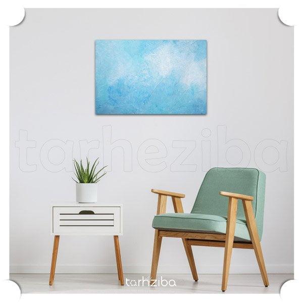 تابلو دیواری ابستره آبی رنگ