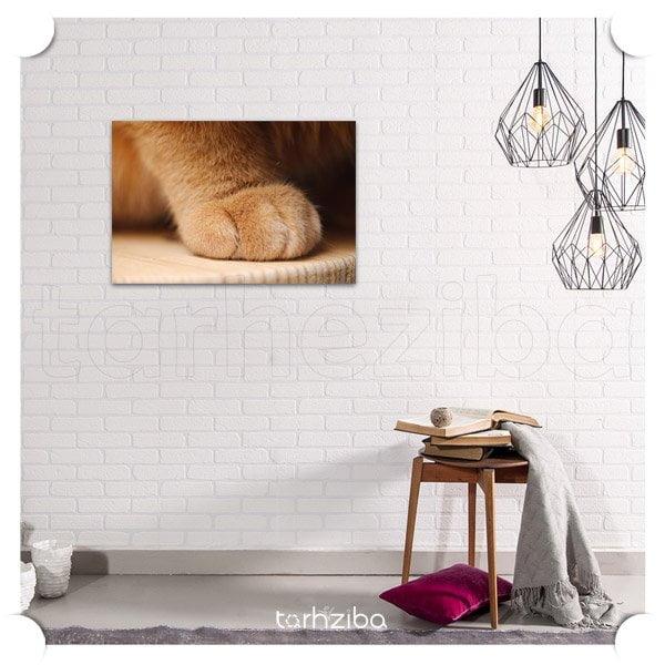 تابلو دیواری سگ پنجه طلا