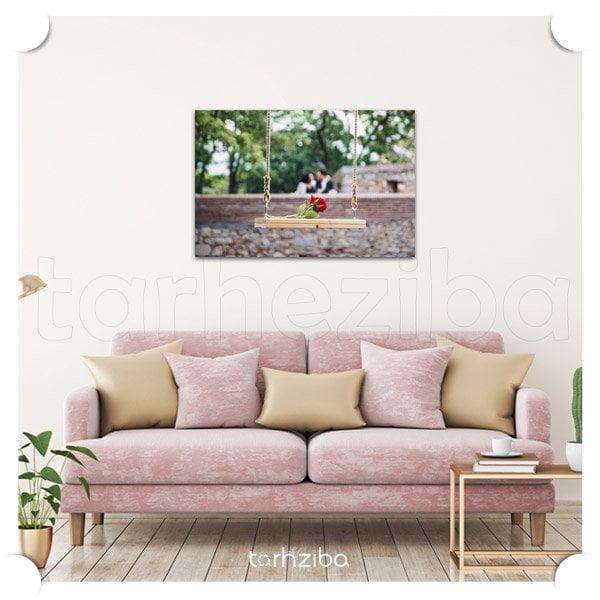 تابلو مدرن عاشقانه و زیبا برای اتاق عروس