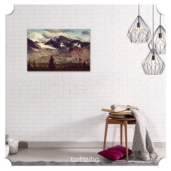 تابلو عکس منظره کوهستان