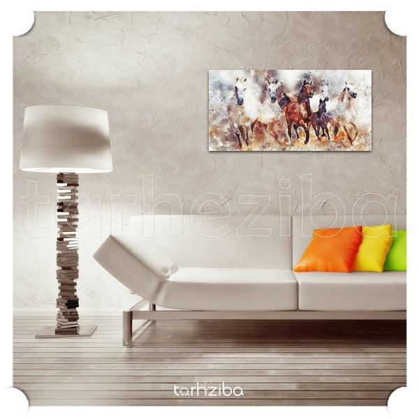 تابلو دکوراتیو و شیک اسب های زیبا