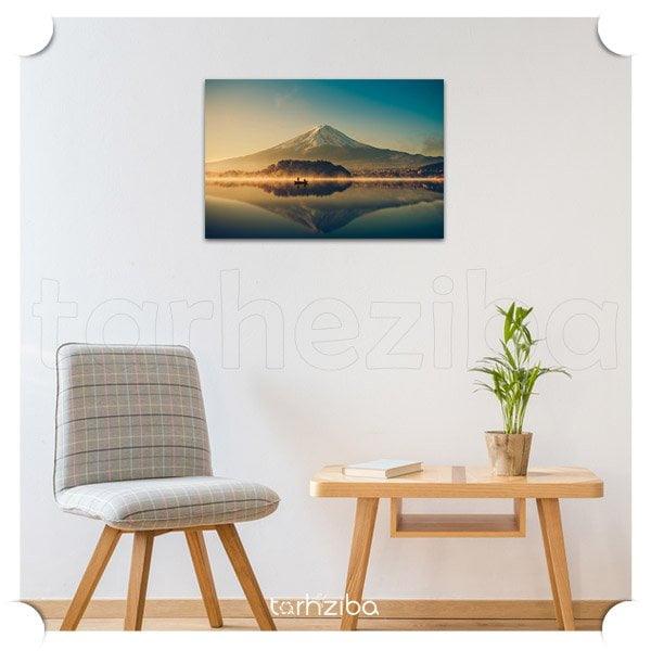 تابلو عکس منظره زیبا ، تابلو شاسی منظره کوهستان