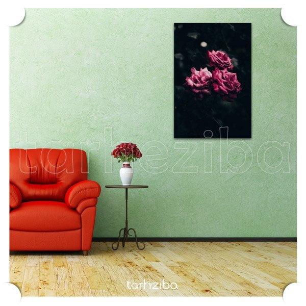 خرید تابلو دیواری شیک و مدرن با طرح گل