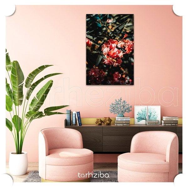 تابلو عکس گل های زیبا برای تزیین اتاق پذیرایی