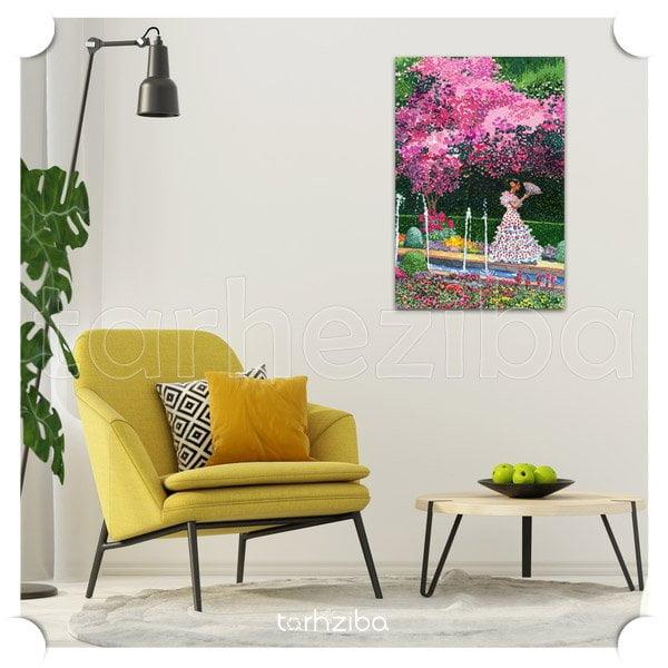 تابلو دیواری و تزیینی گلها و منظره زیبا