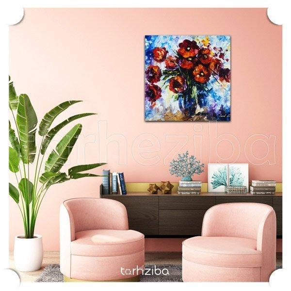 خرید تابلو عکس نقاشی گلهای زیبا