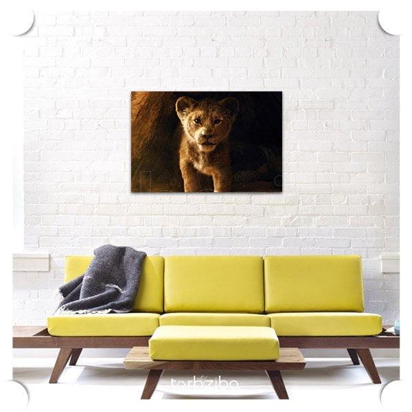 تابلو تزیینی شیر سلطان جنگل