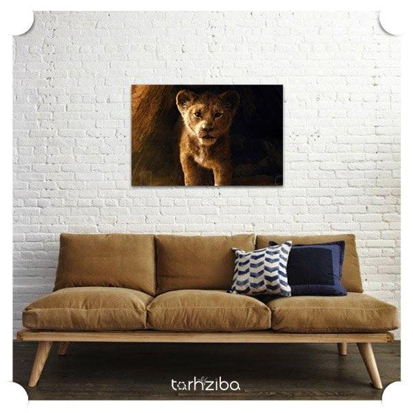 تابلو دیواری شیر سلطان جنگل
