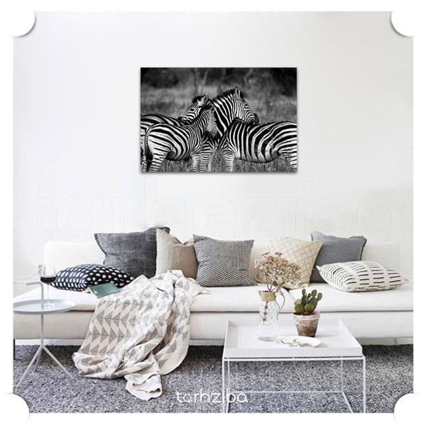 تابلو دیواری شیک مدرن سیاه سفید