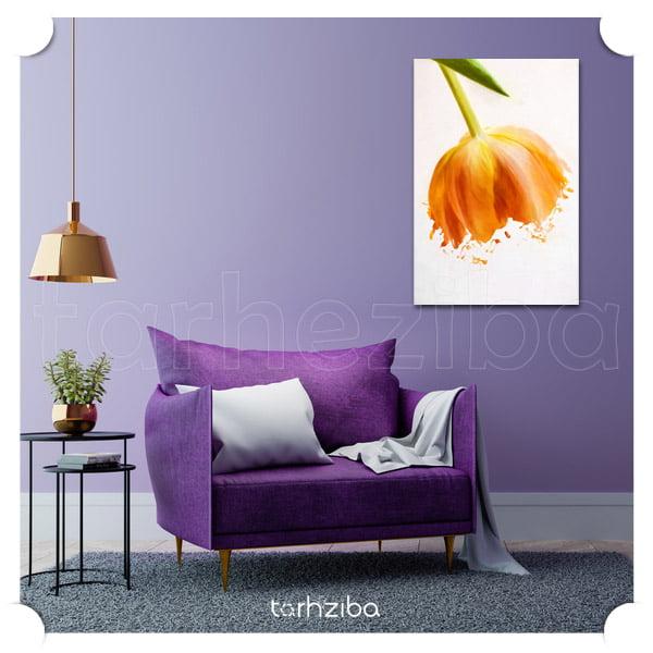 تابلو عکس گل های زیبا نارنجی رنگ